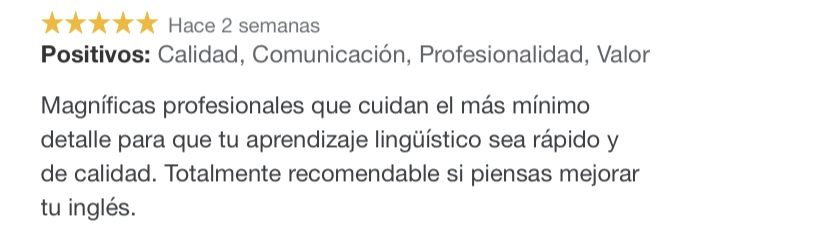 academia de inglés y español