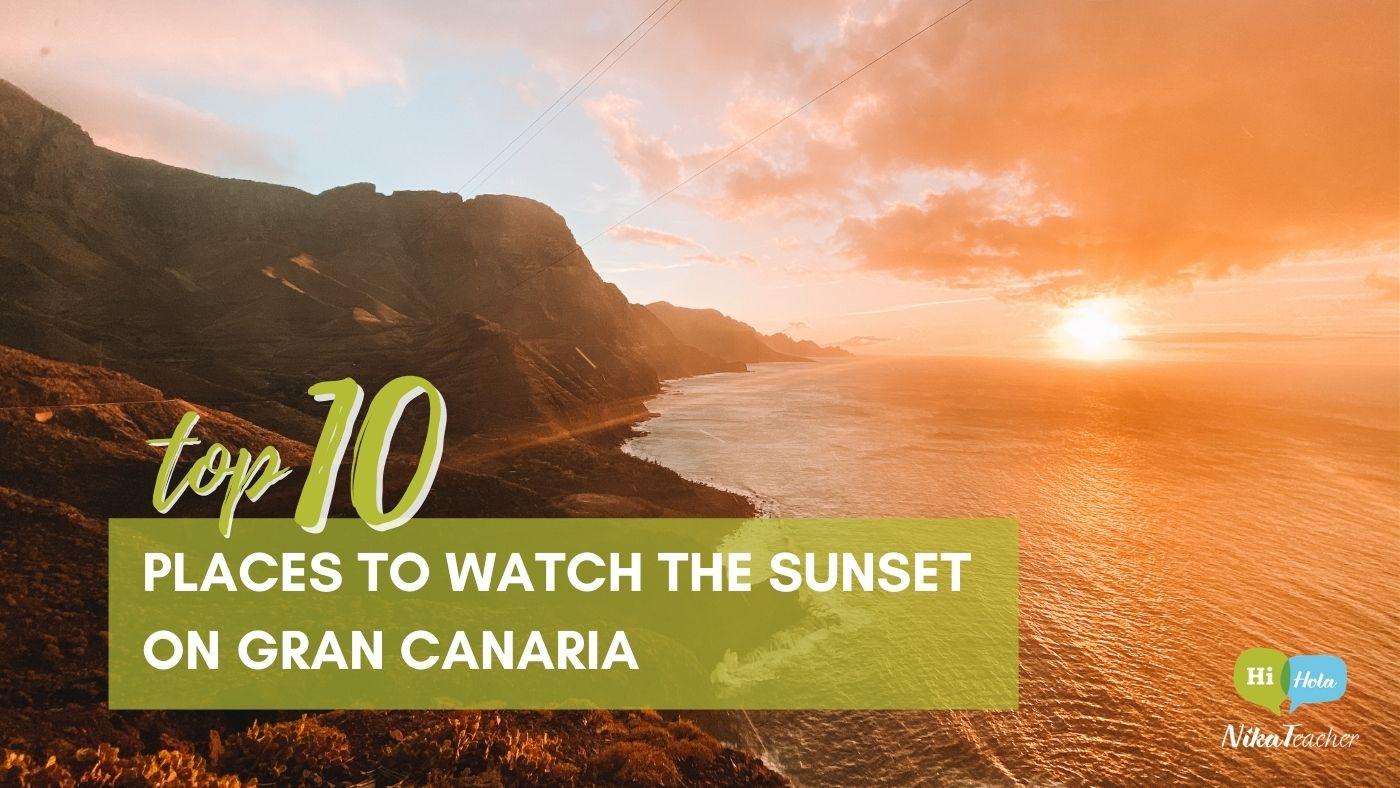 sunset, gran canaria, NikaTeacher, Canary islands, puesta de sol